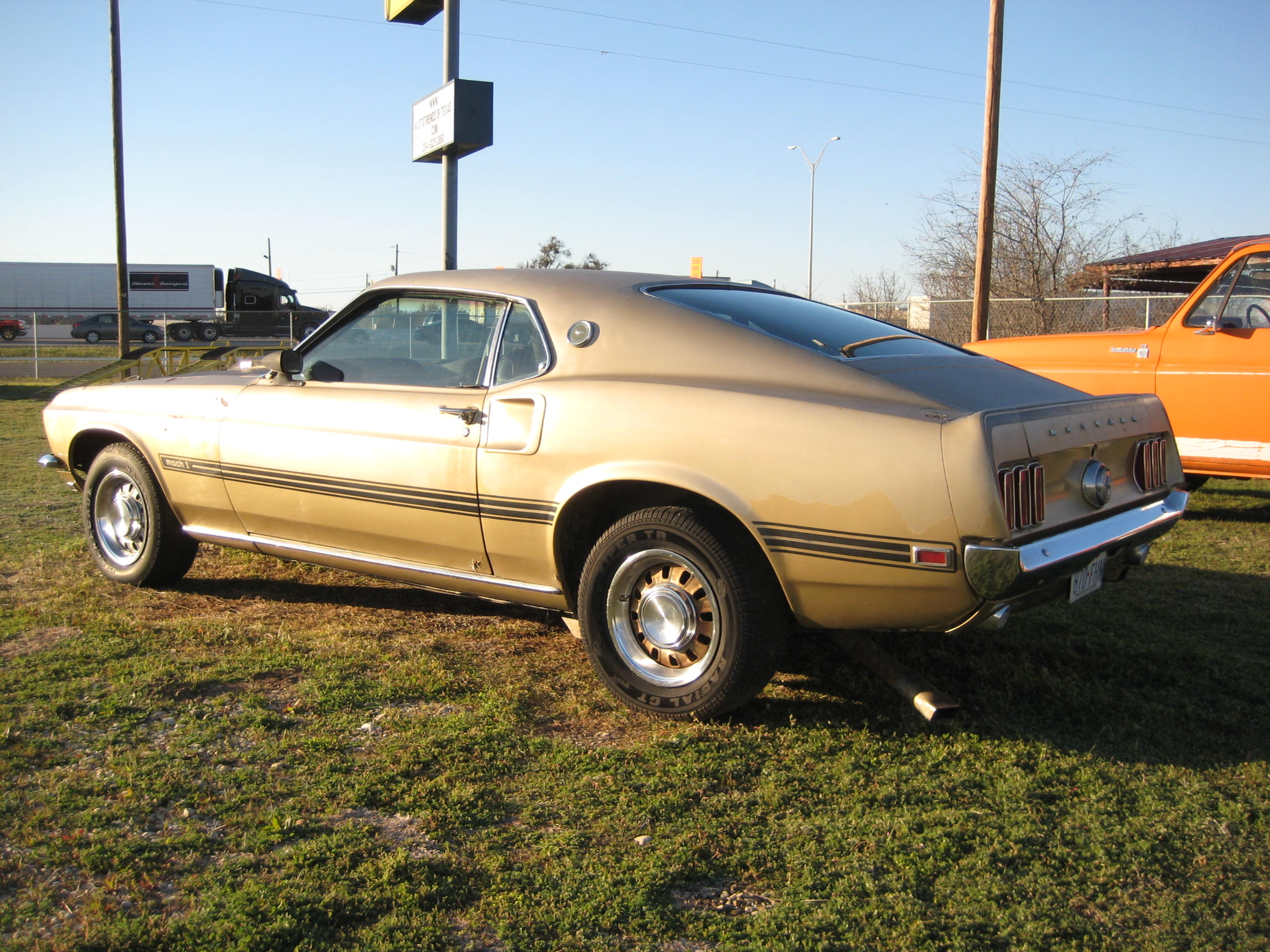 1969 Mustang Mach 1 on vehicle trunk storage